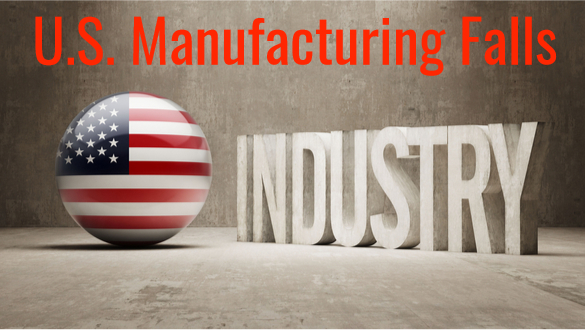 U.S. Manufacturing Falls to Lowest Level of Trump Presidency.