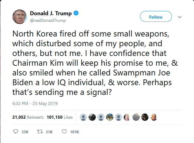 Alt:[Twitter Fired Small Weapons North Korea]