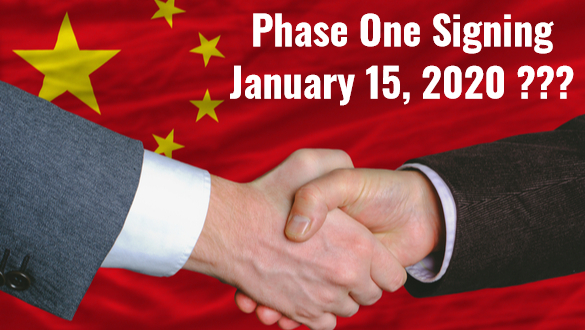 President Trump Insisted the U.S. and China Will Sign Phase One on January 15th
