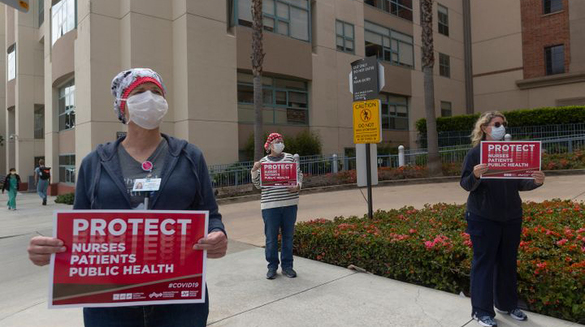 Nurses Refusing To Provide COVID-19 Care without N95 Masks – Suspended by Hospital