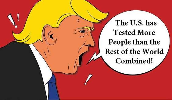 Trump Keeps Lying: The U.S. has Tested More People than the Rest of the World Combined