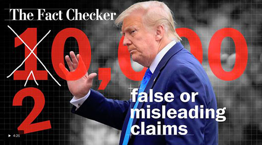 Alt : ( Fact Checker Image  of Trump)