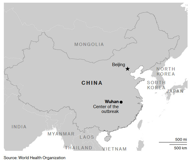 ALT: (WHO  Map of China - Wuhan)